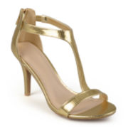 Journee Collection T-Strap High-Heel Sandals