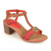Journee Collection T-Strap Sandals