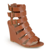Journee Collection Open-Toe Gladiator Wedges