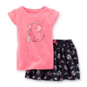 Carter's® Graphic Tee and Skort Set - Toddler Girls 2t-5t