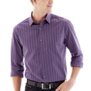 Claiborne® Long-Sleeve Purple Woven Shirt