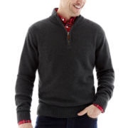 St. John's Bay® Chunky Quarter-Zip Sweater