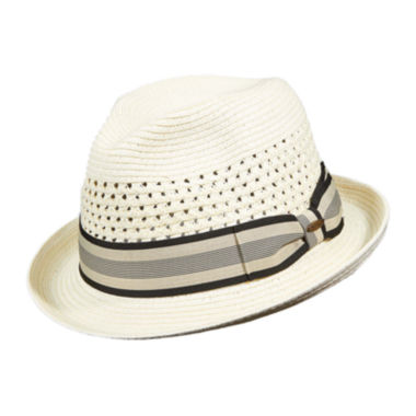 jcpenney.com | Scala™ Classico Straw Vent Crown Fedora