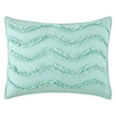 JCPenney Home™ Cotton Classics Ruffle Pillow Sham