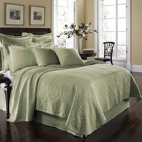 Historic Charleston Collection™ King Charles Matelassé Coverlet & Accessories