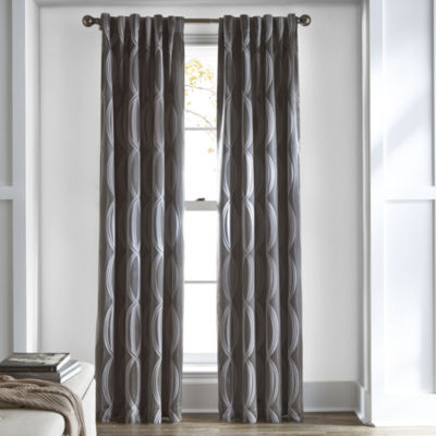 Studio™ Brooklyn Rod-Pocket/Back-Tab Room Darkening Curtain Panel
