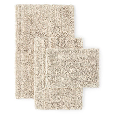 jcpenney.com | Chenille Lines Bath Rug Collection
