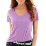 Stylus™ Short-Sleeve Relaxed Fit V-Neck Slub T-Shirt