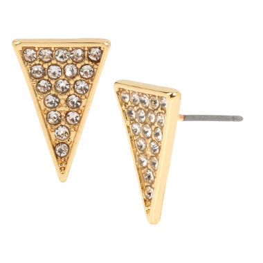 jcpenney.com | Bleu™ Pavé Triangle Stud Earrings