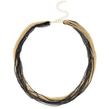 jcpenney.com | Bleu™ Black and Gold-Tone Layered Chain Necklace