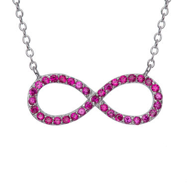 jcpenney.com | Simulated Ruby Sterling Silver Infinity Necklace
