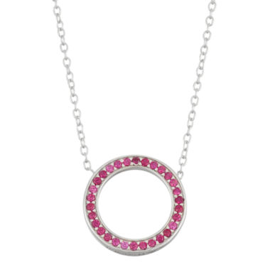 jcpenney.com | Simulated Ruby Circle Sterling Silver Necklace