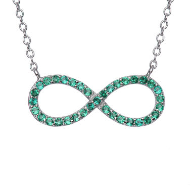 jcpenney.com | Simulated Emerald Sterling Silver  Infinity Necklace