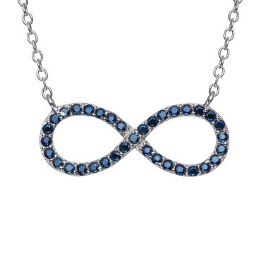 jcpenney.com | Simulated Blue Sapphire Sterling Silver Infinity Necklace