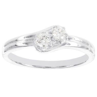jcpenney.com | 1/5 CT. T.W. Diamond Two-Stone 14K White Gold Promise Ring