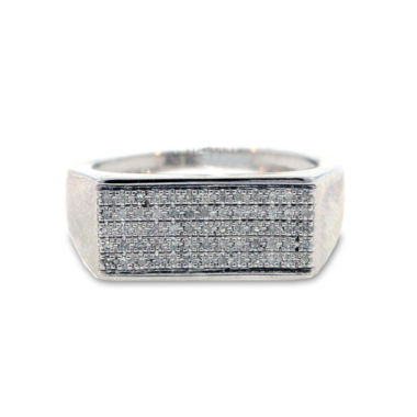 jcpenney.com | Mens 1/6 CT. T.W. Diamond Sterling Silver Ring