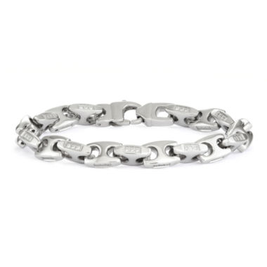 "jcpenney.com | Mens Stainless Steel  8.5"", 10mm Mariner Chain Bracelet"
