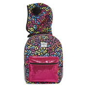 Confetti Rainbow Leopard Hooded Backpack