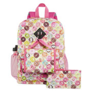 Confetti Smiley Donuts Backpack Set - Girls