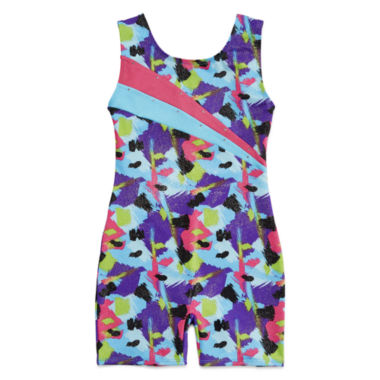 jcpenney.com | Jacques Morét® Sleeveless Spotted Strokes Printed Biketard - Girls