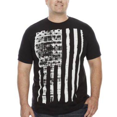 jcpenney.com | Bioworld® Short-Sleeve Distressed Flag Cotton Tee - Big & Tall