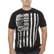 Bioworld® Short-Sleeve Distressed Flag Cotton Tee - Big & Tall