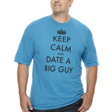 jcpenney.com | Walnut & 39th Short-Sleeve Keep Calm Date a Big Guy Cotton Tee - Big & Tall