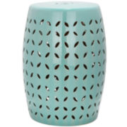 Safavieh Yvette Lattice Petal Garden Stool