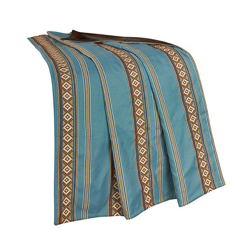 HiEnd Accent Ruidoso Turquoise Stripe Throw
