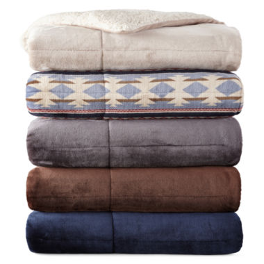 jcpenney.com | JCPenney Home™ Faux Ultra Mink to Sherpa Throw