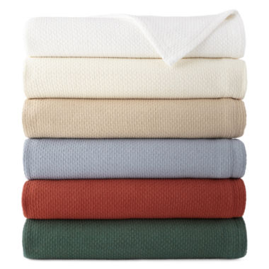 jcpenney.com | JCPenney Home™ Woven Cotton Blanket