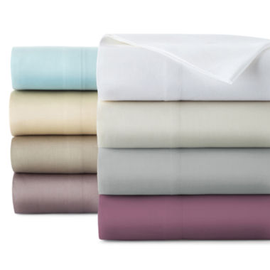 jcpenney.com | Liz Claiborne® 300tc Liquid Cotton Sheet Set