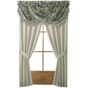 Croscill Classics® Blue & Cream Jacobean 2-Pack Rod-Pocket Curtain Panels