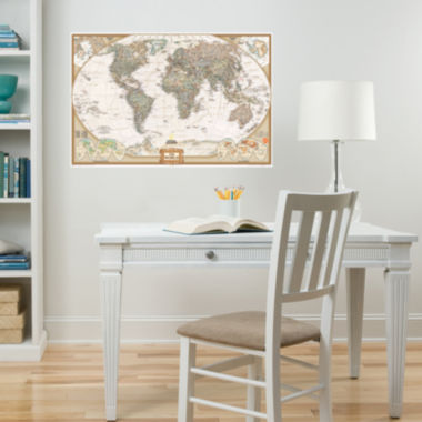 jcpenney.com | WallPops National Geographic World Dry Erase Map Decal