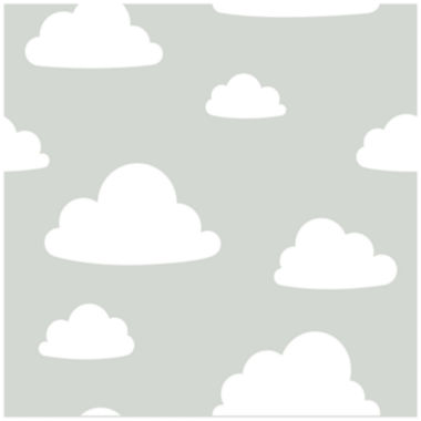 jcpenney.com | NuWallpaper Clouds Grey Peel and Stick Wallpaper
