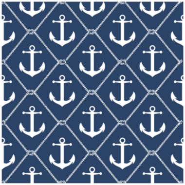jcpenney.com | NuWallpaper Set Sail Navy Peel and Stick Wallpaper
