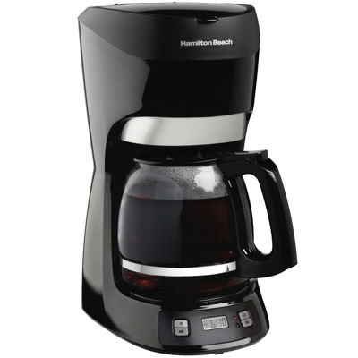 hamilton beach 12 cup coffee maker with digital clock 49467 jcpenney. Black Bedroom Furniture Sets. Home Design Ideas