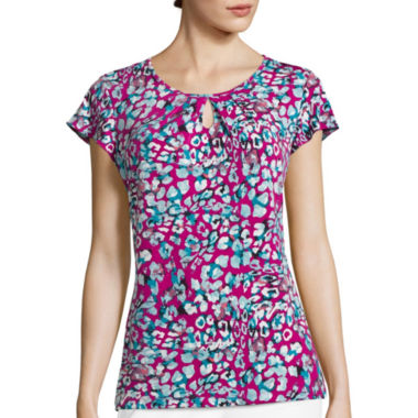 jcpenney.com | Liz Claiborne® Animal Print Knit Top - Tall