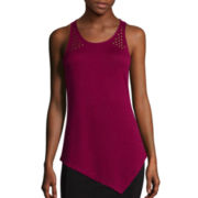 BELLE + SKY™ Asymmetrical Stud Tank Top