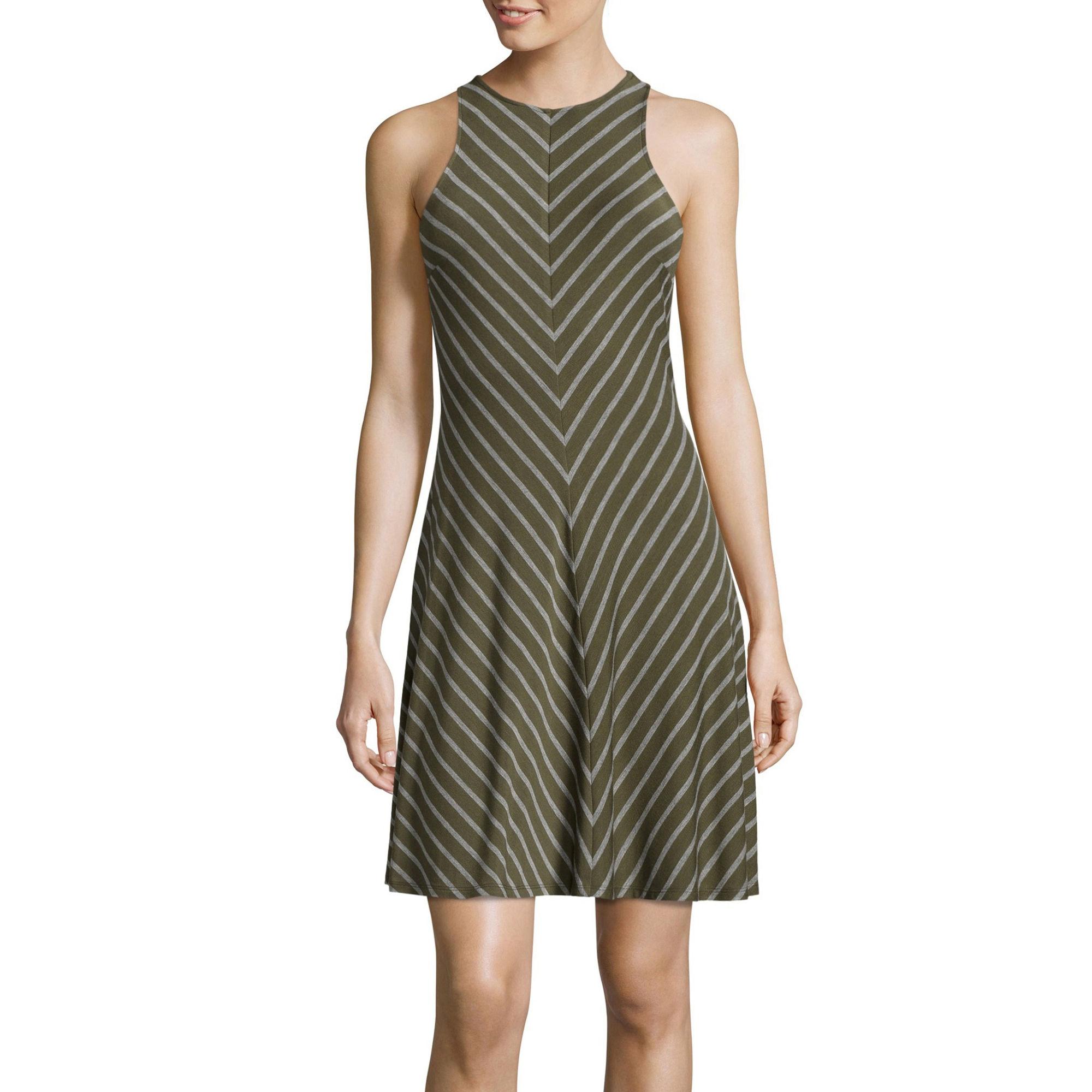 BELLE + SKY Sleeveless Halter Swing Dress