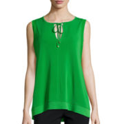 Worthington® Sleeveless Trapeze Top
