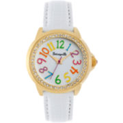 Betseyville® White or Black/White Floral Print Watch