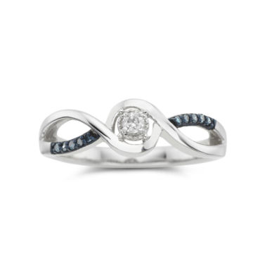 jcpenney.com | 1/10 CT. T.W. Blue & White Diamond Promise Ring