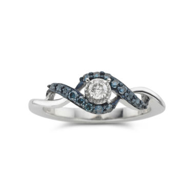 jcpenney.com | 1/10 CT. T.W. Blue & White Diamond Twist Promise Ring