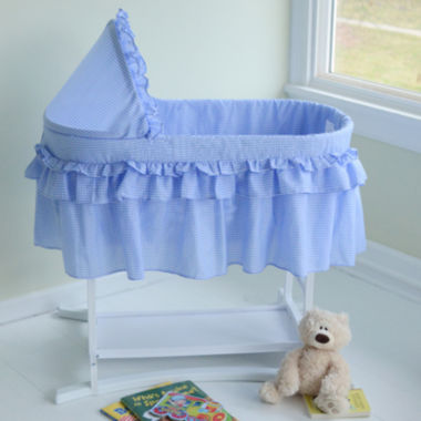 jcpenney.com | Lamont Home Good Night Baby Bassinet - Blue Gingham Half Skirt