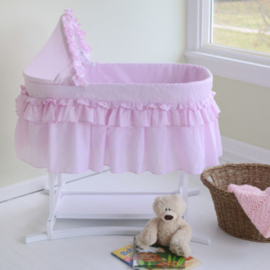 jcpenney.com | Lamont Home Good Night Baby Bassinet - Pink Gingham Half Skirt