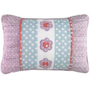 Petals Floral Oblong Embroidered Decorative Pillow