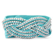 Arizona Braided Blue Suede Bracelet