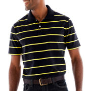 St. John's Bay® Bar-Striped Pocket Polo