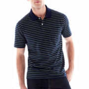 St. John's Bay® Bar-Striped Pocket Polo